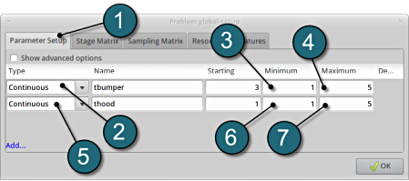 Parameter setup_nw