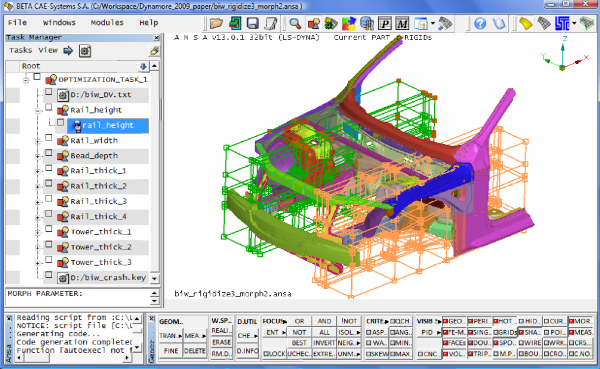 ANSA, LS-OPT, μETA: A complete software set for optimization — LS ...